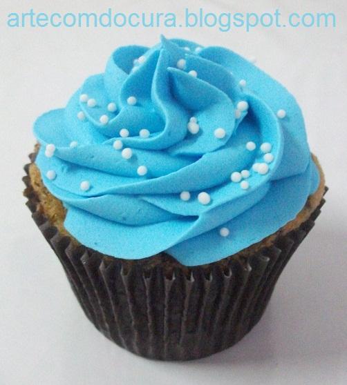 Arte Com Docura Cupcakes Marrom Com Azul