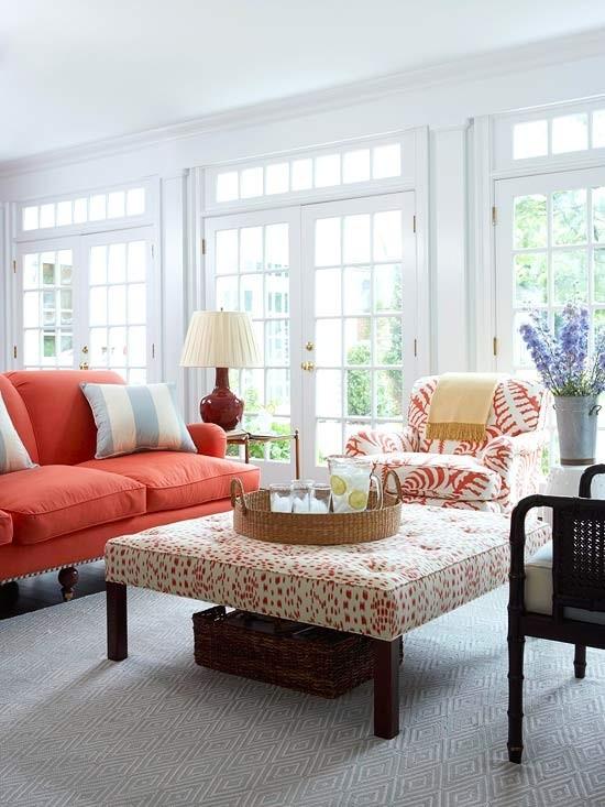 Diseño de salas color coral | Ideas para decorar, diseñar y mejorar ...
