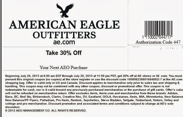 American eagle outfitters coupon code