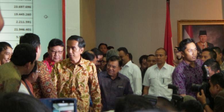 Jokowi-JK Ditetapkan Sebagai Pemenang Pilpres 2014