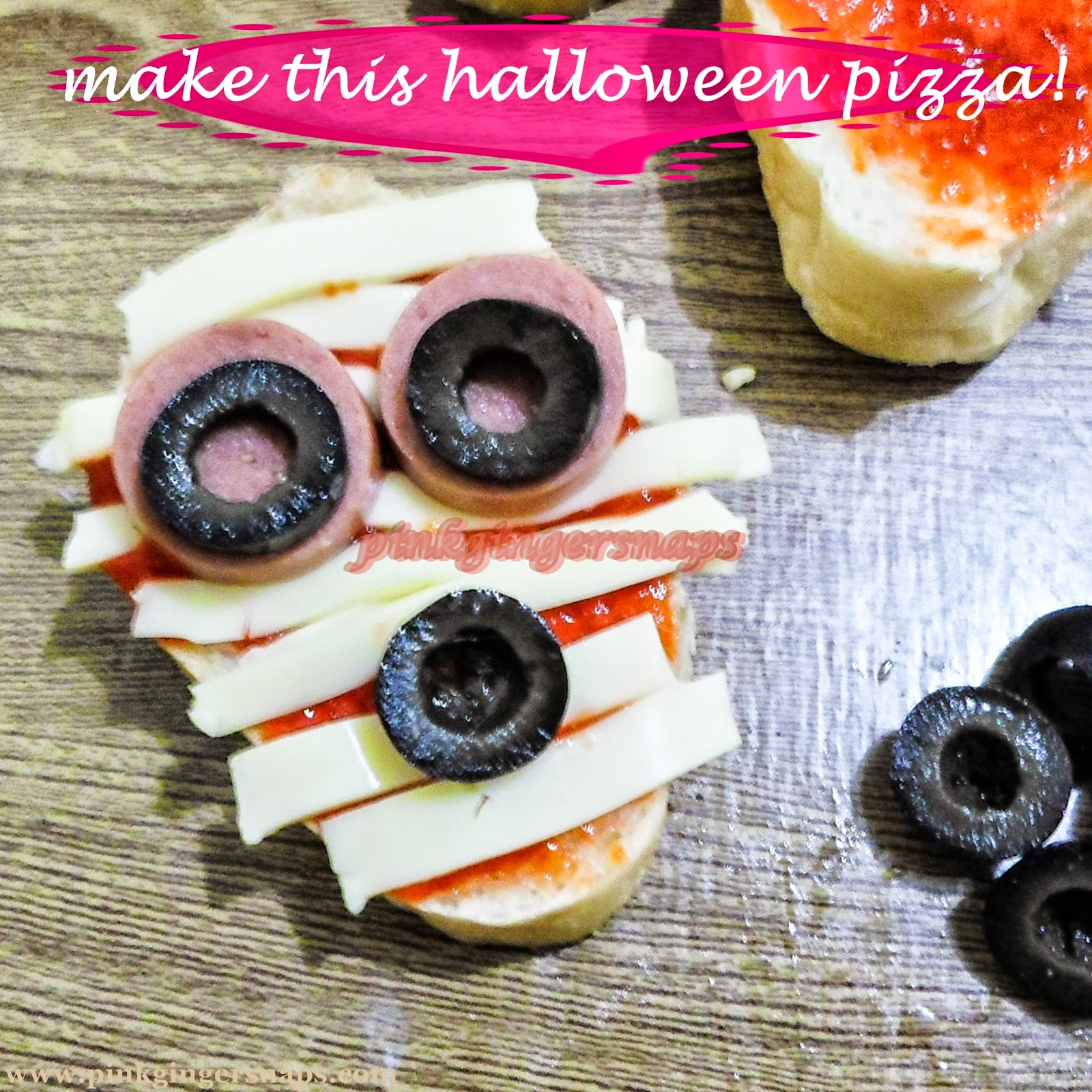 spooky pizza for halloween