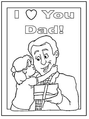 Dibujo en inglés te quiero papá