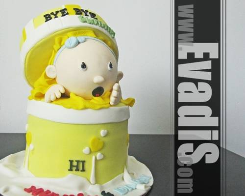 Picture of Baby Shower Cake Design in Full View