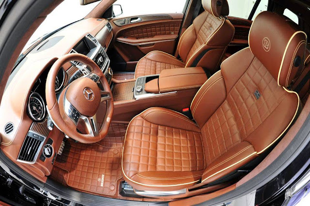 mercedes gl brown leather interior