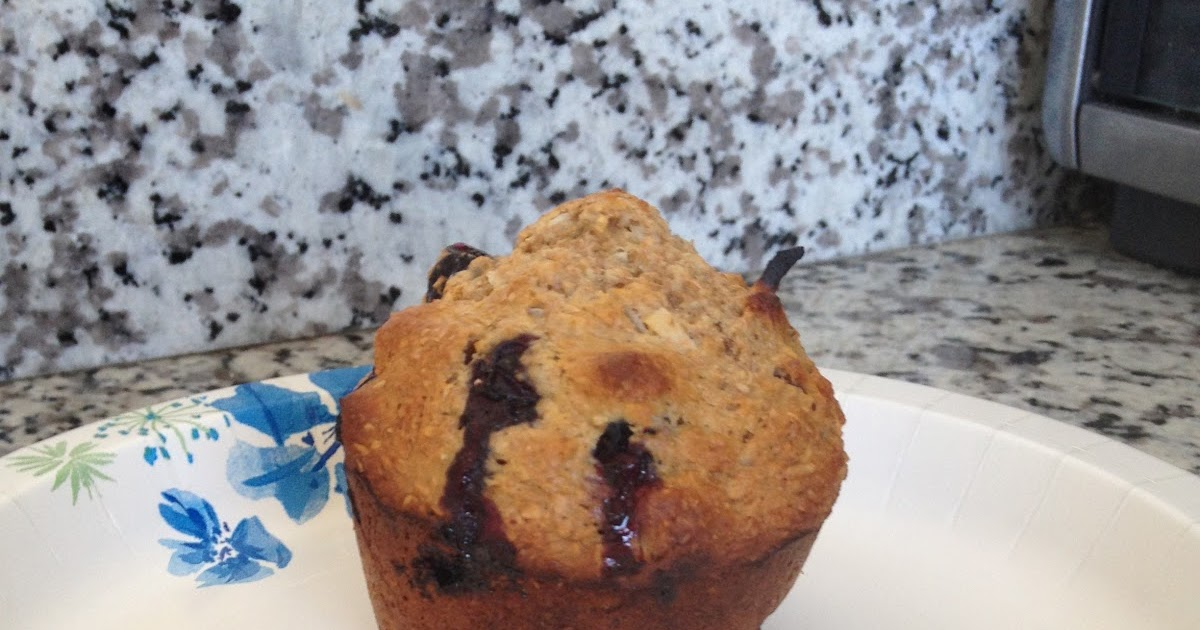 Obsessed with Food: Honey Coconut Blueberry Bran Muffins