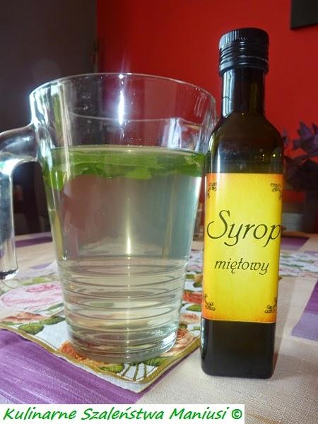 Lemoniada z syropem z mięty :-)