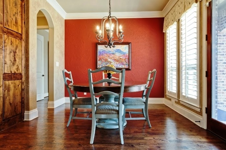 Wall paint colors for dining rooms for Dining wall painting