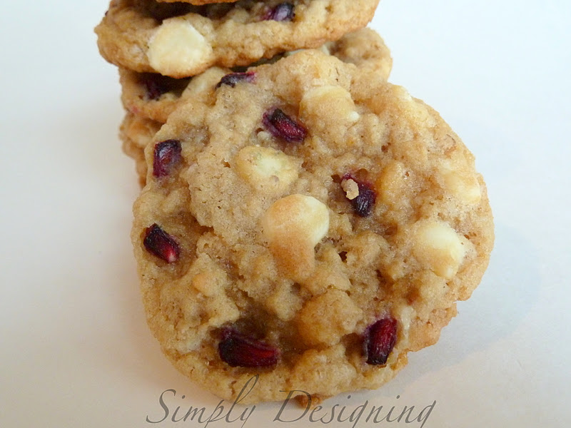 chocolate chunk cookies pomegranate white chocolate chunk cookies ...