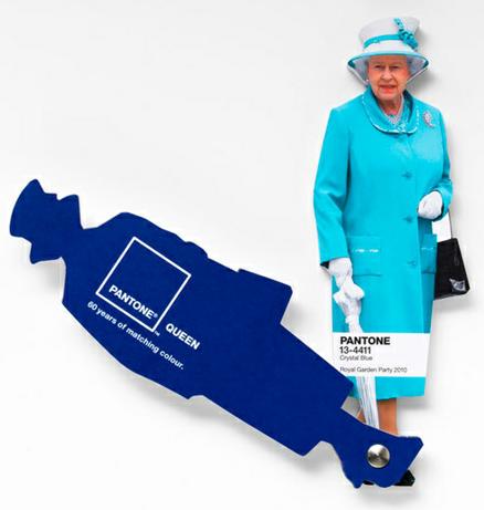 Catálogo Pantone em homenagem à Rainha Elizabeth