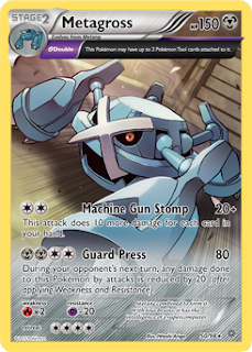 Metagross Ancient Origins Pokemon Card