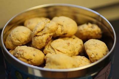 Cookies salés au bacon et noisettes