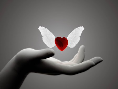simbol love. tangan