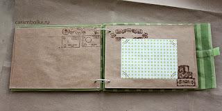 Альбом ручной работы, тревелбук в мягкой обложке, скрапбук из крафт-конвертов.