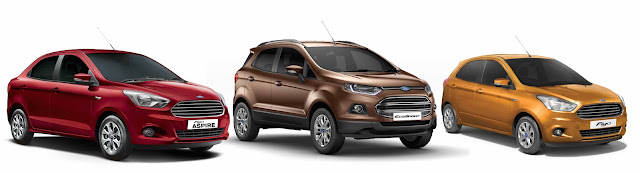 Ford India Figo Aspire, Figo and EcoSport