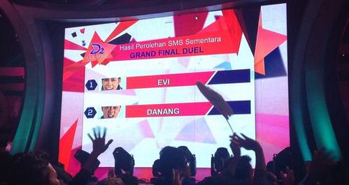 Peraih SMS Tertinggi Konser Grand Final Duel Dangdut Academy 2 (DA2) Tgl 05 Juni 2015