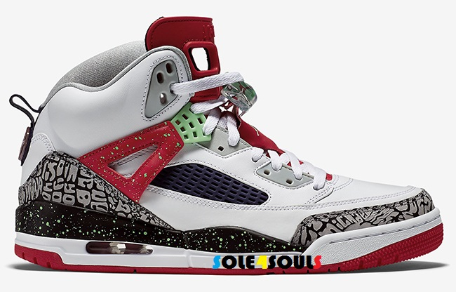 Excellent Quality New Nike Air Jordan Spizike Sz 8.5 White Poison Green Red  Black Shoes Sneakers
