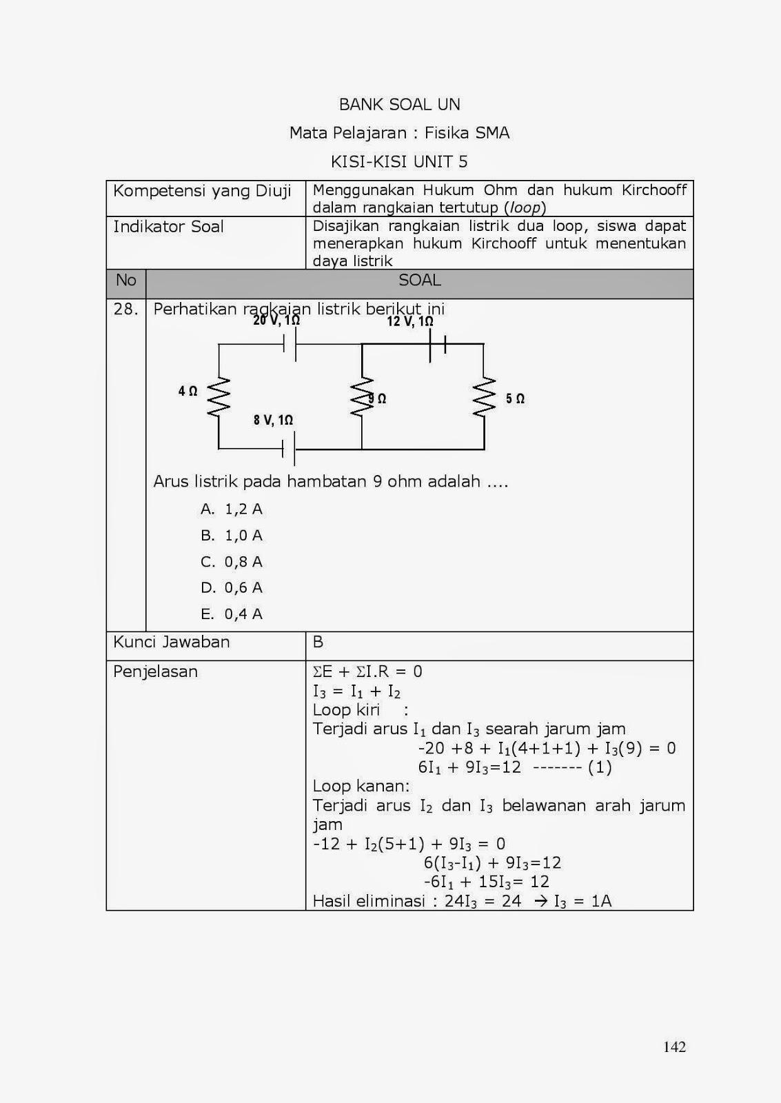 Achmad Saifudin 25 Pembahasan Soal Soal Un Fisika Listrik Dinamis Hukum Kirchoff 2