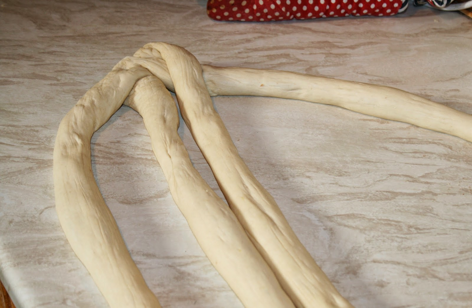 how to braid bread four stranded plait
