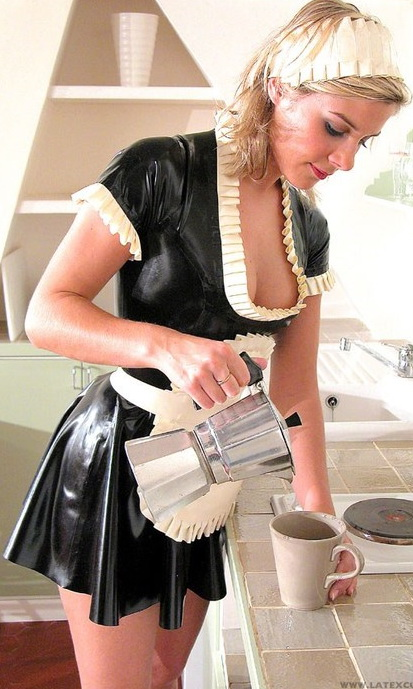 Sexy Hot Latex Housekeepers