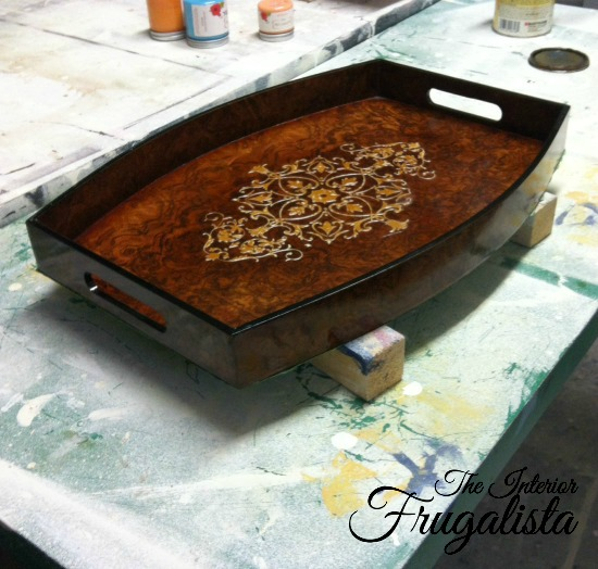 Plastic Tray Makeover Before