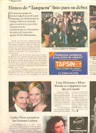 """Diario """" La segunda"""" Tanguera en Santiago de Chile"""