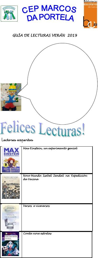 GUÍA DE LECTURAS DA BIBLIOTECA VERÁN 2019