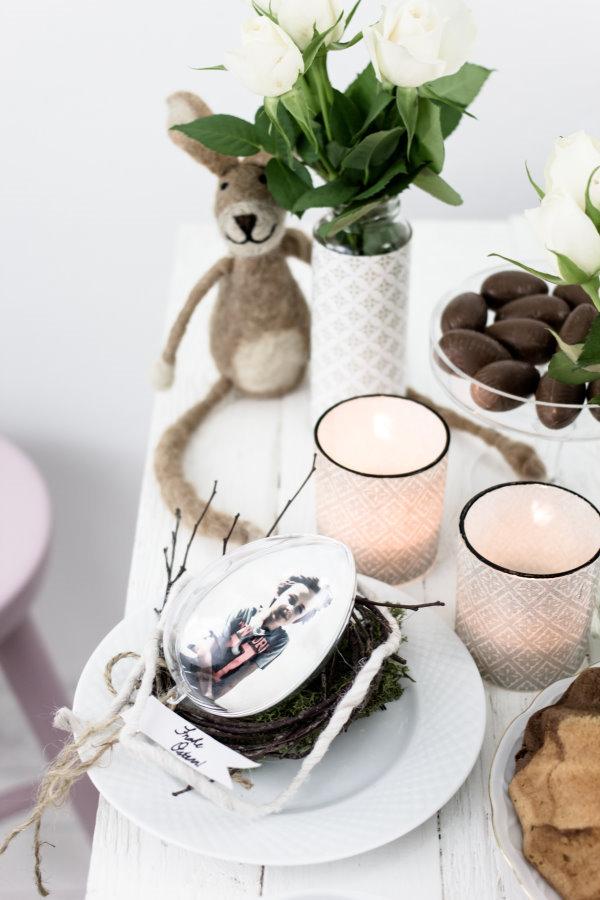Kaffeetafel zu Ostern mit DIY Tischdeko