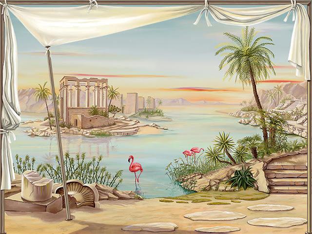 poster ruines des temples de philae en egypte vallée du Nil