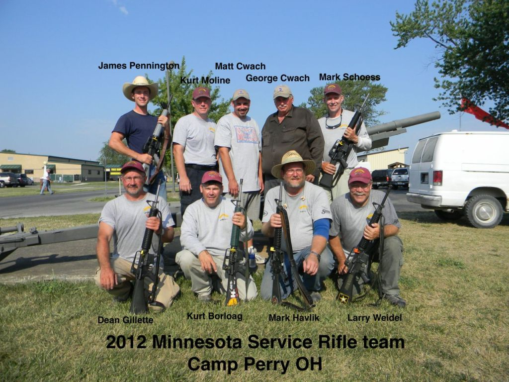Mn State Service rifle Team for 2012