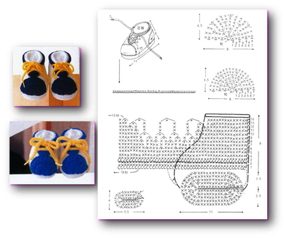 zapatitos tejidos a crochet para bebes patrones