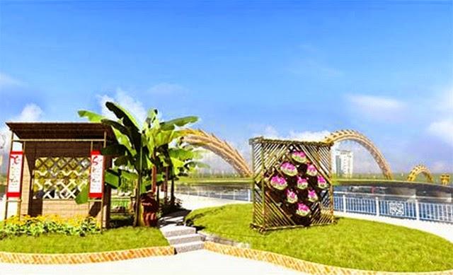 Đường hoa xuân độc và lạ ở Đà Nẵng