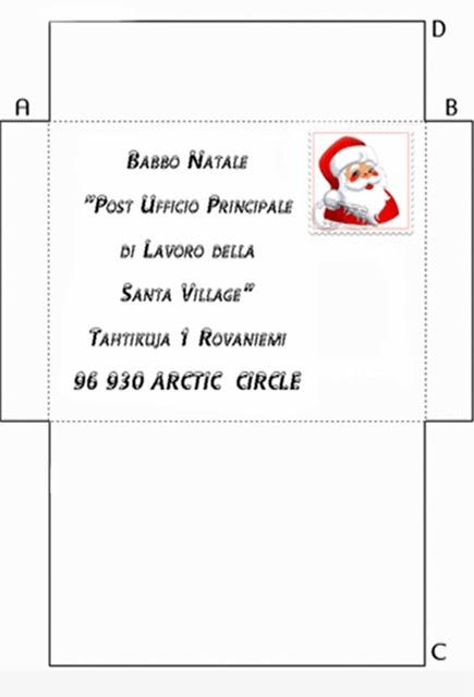 Favoloso Buone Feste: Busta da Lettera per Babbo Natale con Indirizzo  LL74