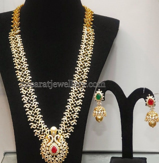 Diamond Mango Haar with Jhumka