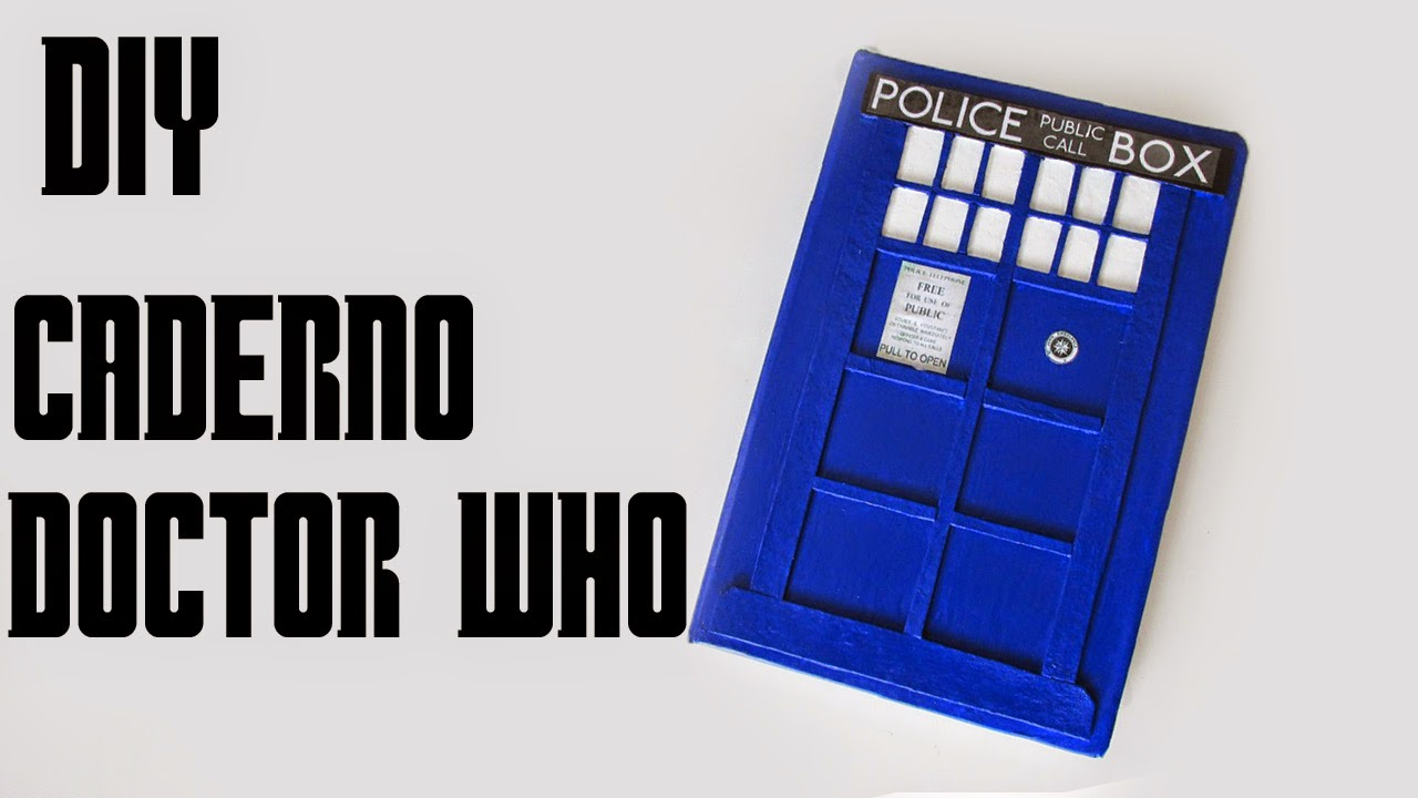 DIY: Como Fazer Caderno TARDIS do Doctor Who Tutorial