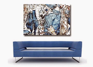 Abstract Canvas Prints, wall art, blue, white, black,brown,