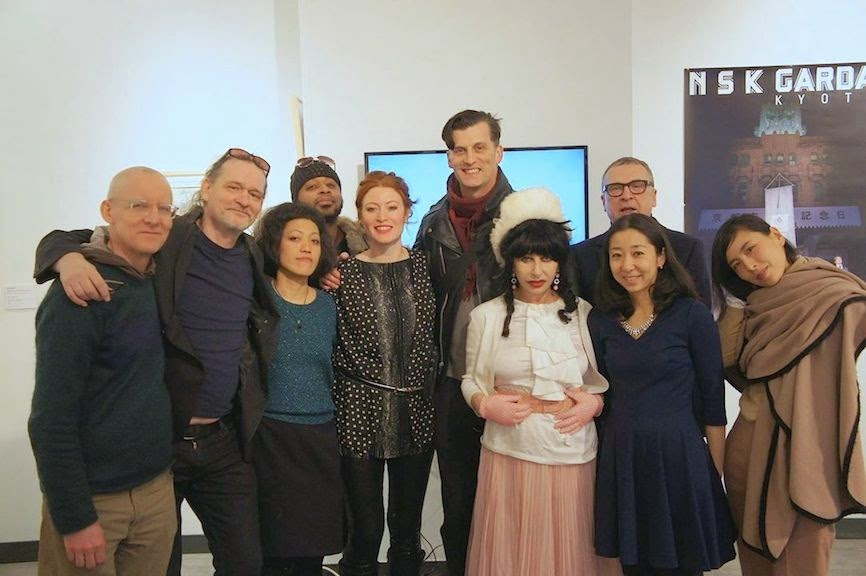 "Some of the Artists and curators part of ""Japonism in contemporary art"""