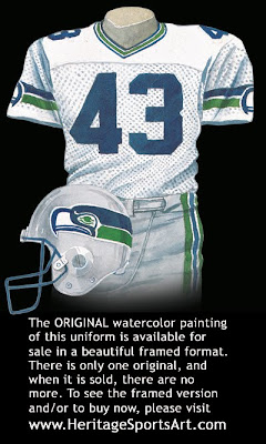 Seattle Seahawks 1990 uniform