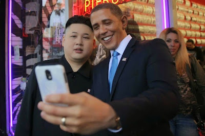 But we've saved the best for last. Here's US President Barack Obama and North Korean leader Kim Jong Un sharing a happy moment.