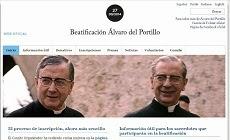 Beatificação D. Álvaro del Portillo página web oficial em espanhol e inglês