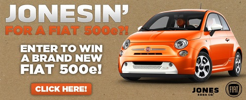 Fiat 500e Jones Soda Contest