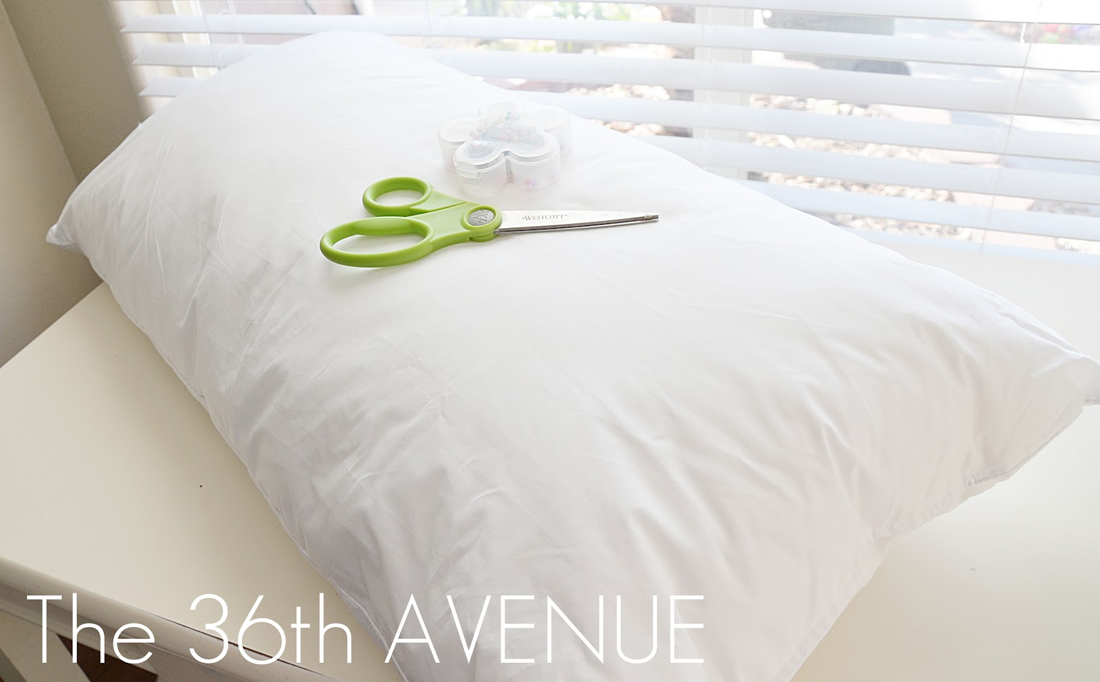 The 36th AVENUE | DIY Pillow Insert from a King Size Pillow | The