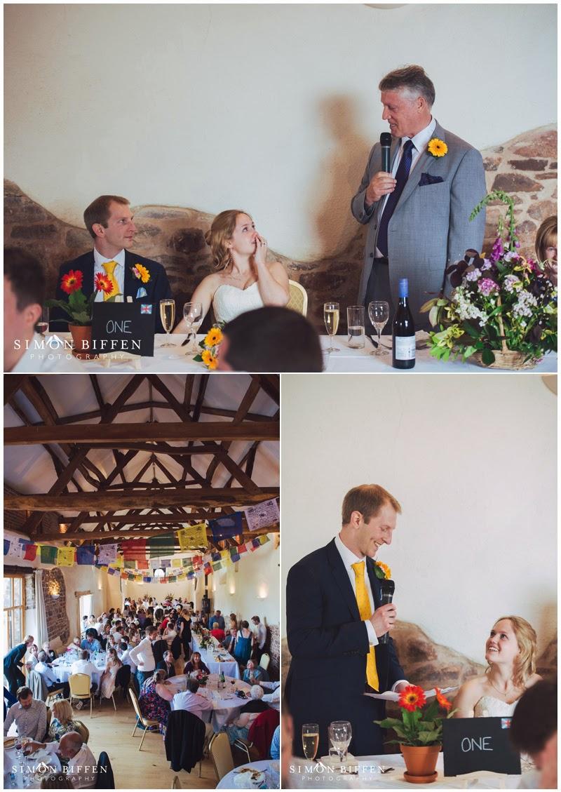Wedding speeches at the Corn Barn Devon