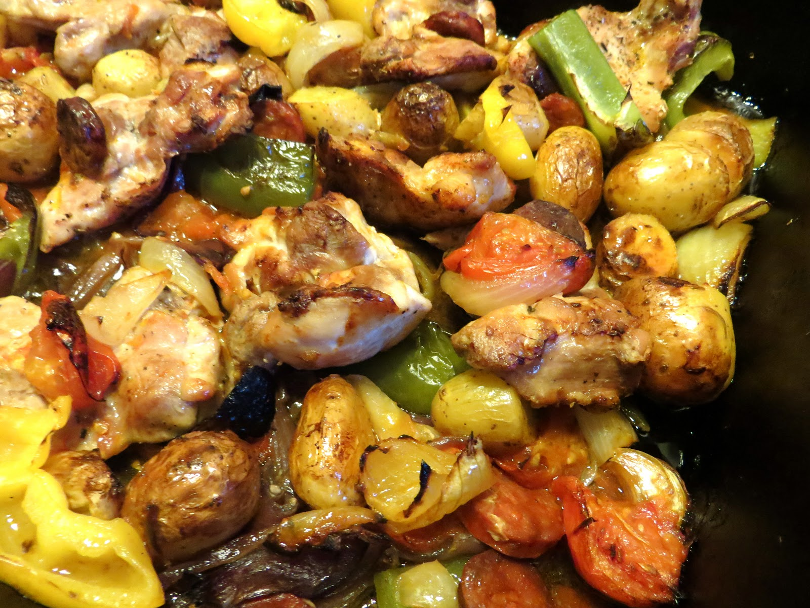 Good food and red shoes: Hairy Bikers Spanish Style Chicken Bake