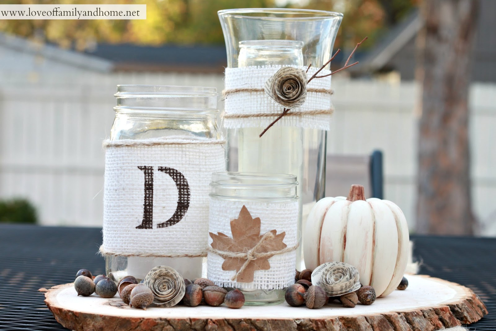 Rustic Fall Centerpiece Tutorial - Love of Family & Home