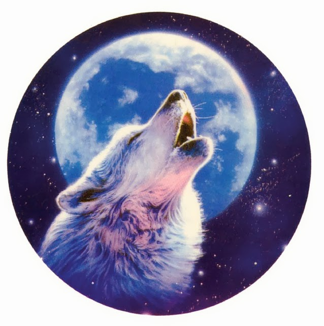 Howling Wolf Decal