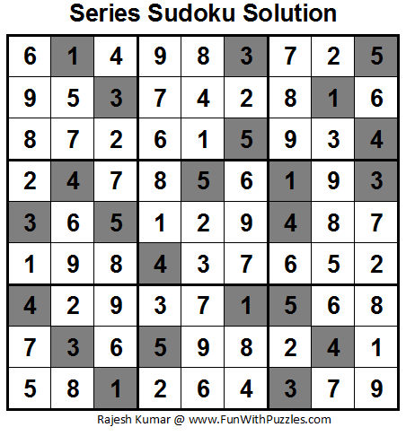 Series Sudoku (Fun With Sudoku #15) Solution