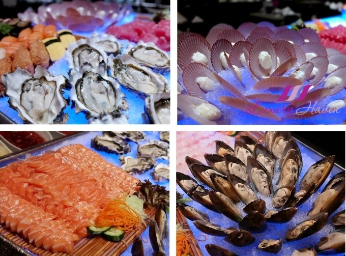 concorde hotel spices cafe dinner buffet sashimi review
