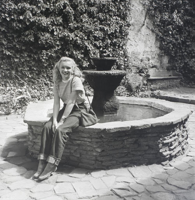 Norma Jeane Dougherty at Capistrano Mission