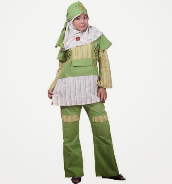 Model baju muslim modern anak perempuan modis