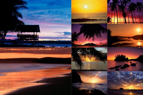 Fotografías de playas al amanecer XVII (10 postales)